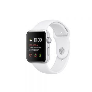 Watch Series 2 Aluminum (38mm), Silver, Silver/White Nike sport band